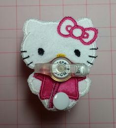 Hello Kitty inspired shaped G-Tube Button Cover