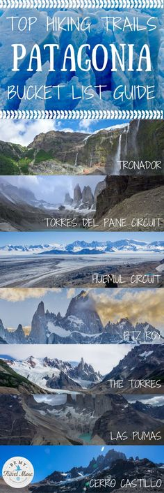10 of the best hikes in Patagonia, ranging from well known Fitz Roy and the Torres del Paine Circuit to lesser known ones such as Refugio Frey. Trekking in Argentina and Chile.    Be My Travel Muse