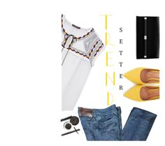 """""""A Little Yellow Goes A Long Ways"""" by juliehooper ❤ liked on Polyvore featuring Violeta by Mango, Prada, Moda In Pelle, Diane Von Furstenberg and ELF Cosmetics"""