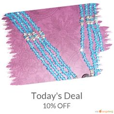 Today Only! 10% OFF this item.  Follow us on Pinterest to be the first to see our exciting Daily Deals. Today's Product: Holiday sale Multi-strand Necklace-Bright Blue Crystal 4-Strand Beaded Necklace, elegant, fashion, design Buy now: https://www.etsy.com/listing/237877344?utm_source=Pinterest&utm_medium=Orangetwig_Marketing&utm_campaign=Holiday%20sale   #etsy #etsyseller #etsyshop #etsylove #etsyfinds #etsygifts #fashion #beads #handmade #jewelryaddict #malachite #jewelry #jewelrydesigners…
