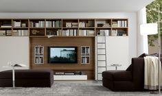 Moderne Wohnwand Style : Moderne wohnwand mit viel stauraum home dressing