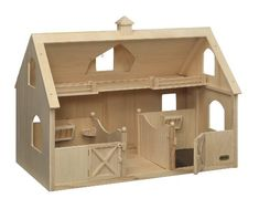 Breyer Traditional Deluxe Wood Horse Barn with Cupola Toy Model Wooden Toy Barn, Doll House Plans, Barn Wood Crafts, Kids Wood, Wood Ornaments, Tallit, Wood Toys, Diy Toys, Diy Woodworking