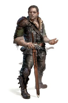 Male Human Rogue Fighter Mercenary Adventurer - Pathfinder PFRPG DND D&D 3.5 5th ed d20 fantasy