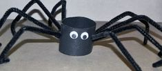 Try this spider kids craft this Halloween. It's super cheap and super easy just grab some pipe cleaners and a toilet paper roll to make.