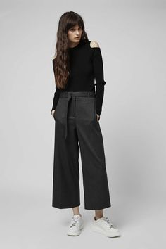 Photo 3 of Wide Cropped Trousers