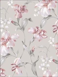 Hanalei Pink and Grey Floral Wallpaper, Pink And Grey Wallpaper, Textured Wallpaper, Flower Wallpaper, Wall Wallpaper, Wallpaper Backgrounds, Classic Wallpaper, Floral Wallpapers, Beautiful Wallpaper, Iphone Backgrounds