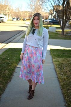 The Braided Bandit: Pleated Florals