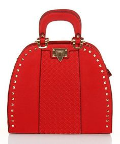 burberry purses outlet online nkaq  233 Red Studded Flip-Lock Tote by Segolene Paris