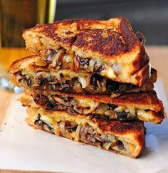 of the Best Grilled Cheese Sandwich Recipes The Best Grilled Cheese Recipes. Grilled Cheese with Gouda, Roasted Mushrooms and OnionsThe Best Grilled Cheese Recipes. Grilled Cheese with Gouda, Roasted Mushrooms and Onions Cheese Sandwich Recipes, Grilled Cheese Recipes, Soup And Sandwich, Grilled Cheeses, Sandwich Ideas, Sandwich Ingredients, Burger Recipes, Gouda Cheese Recipes, Munster Cheese Recipes