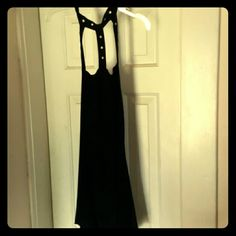Black Halter top Halter top with mini keyhole so on three straps and eyelet closure at neck. Dots Tops Tank Tops