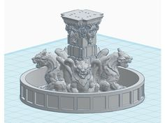 Gargoyle Fountain for 28mm RPG Games by jpacek - Thingiverse