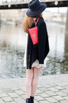 Lace dress and a blazer