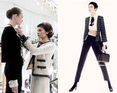 When it comes to timeless fashion, on of the first names that comes to mind for me is Coco Chanel. Coco's fashion weaves through history over the last two centuries. One of the things that… Coco Chanel Mode, Coco Chanel Fashion, Chanel Style, Fashion Mag, Fashion News, Chanel Jacket, Vintage Classics, Chanel Couture, Kinds Of Clothes