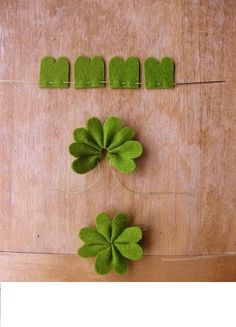 Easy way to make a St. Patrick's day touch....