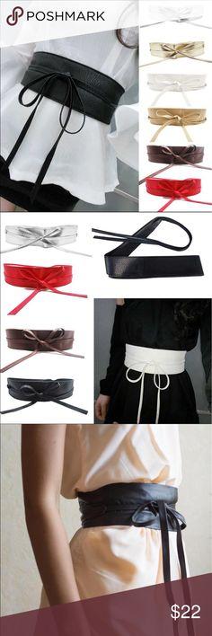 🆕 Paris hottest trend Wrap belt Available in black white navy and beige Paris hottest trend wrap belts Accessories Belts