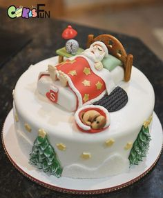 Sleeping Santa by Cakes For Fun