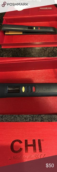 Chi hair straightener Chi hair straightener in good condition . Made from ceramic plates. Heat button for low and high Other
