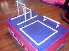 My daughter's Valentine Box. Gymnastics Equiptment
