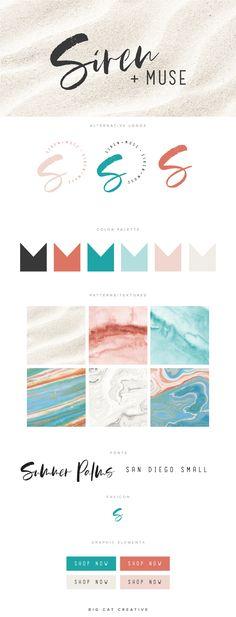 Ideas for design logo inspiration personal branding color palettes Logo Inspiration, Design Studio Names, Handwritten Logo, Script Logo, Marca Personal, Personal Branding, Watercolor Branding, Beach Logo, Photographer Branding