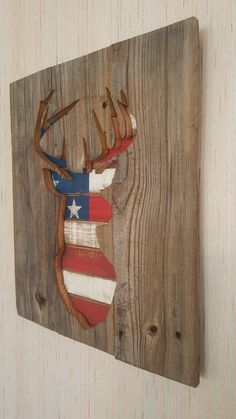 Rustic Patriotic Flag Pallet Cedar Wood Deer Silhouette Sign Repurposed Recycled Reclaimed Distressed Wood Sign Gift For Hunter GREAT GIFT Pallet Flag, Wood Flag, Wood Pallet Signs, Wood Pallets, Wooden Signs, Old Wood Projects, Woodworking Projects Diy, Wood Crafts, Ammo Crafts