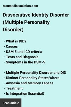 Dissociative Identity Disorder is often misunderstood. Read facts about…