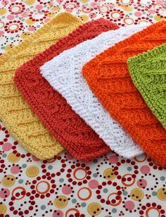 Diagonal Stitch Dishcloth - Patterns | Yarnspirations