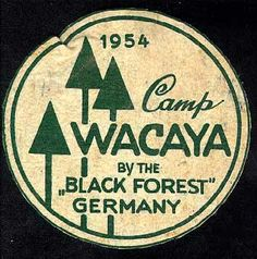 Camp Wacaya patch.  I went there while I lived in Germany!  Loved it! - badge patch emblem