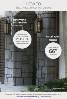 Outdoor lighting guide when installing two lights on - How to install exterior lighting ...