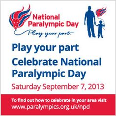 National Paralympic Day is Saturday September 7. #PlayYourPart