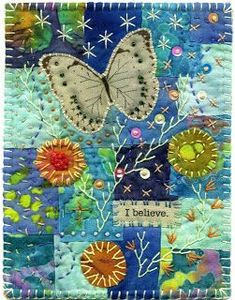 66 ideas crazy quilting art beautiful for 2019 Crazy Quilting, Crazy Quilt Stitches, Crazy Quilt Blocks, Art Quilting, Fabric Cards, Fabric Postcards, Embroidery Stitches, Hand Embroidery, Embroidery Designs