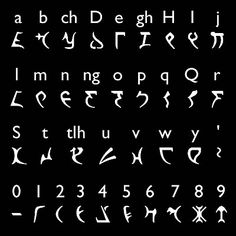 Klingon Alphabet for aliens this year