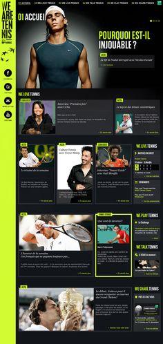 Web design , We are tennis