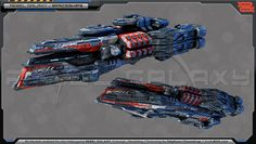 """Model created for """"Rebel Galaxy"""", concept + 3D + texturing"""