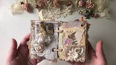 Tattered Shabby Chic Vintage Junk Book - YouTube