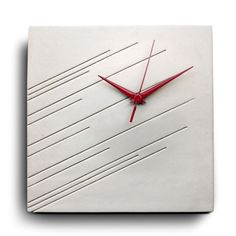 Items similar to Impression Concrete Wall Clock, A Modern Design by Marit Meisler on Etsy Concrete Crafts, Concrete Art, Concrete Projects, Concrete Design, Clock Art, Diy Clock, Clock Decor, Art Deco Decor, Decoration