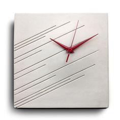 Concrete impression wall clock