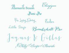 Calligraphy Wedding Invitations: Fonts we love
