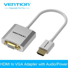 Vention Metal HDMI to VGA Adapter Converter Cable1080p with Audio & Micro USB port power Supported for Laptop HDTV Projector