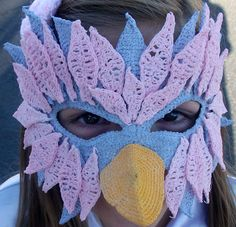 These are a few of my Craftiest things...: Mardi Gras Bird Mask