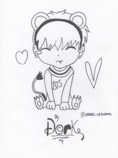 Taehyung chibi I drew for his bday