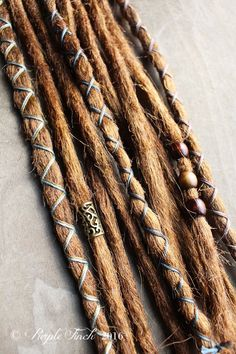 10 Custom Standard *Clip-in or Braid-in Synthetic Dreadlock Extensions Boho Dreads Hair Wraps & Bead Dread Hairstyles, Hairstyles For School, Hippie Braids, Professional Hair Extensions, Dreadlock Extensions, Blonde Color, Synthetic Hair, Dreads, Natural Hair Styles