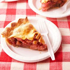 Rhubarb Pie. [from midwest living]