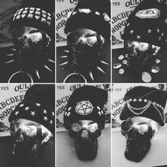 So excited about these goth grunge studded beanies! These badass hats will be dropping this friday!