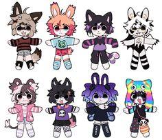 Cute Animal Drawings Kawaii, Kawaii Art, Cute Drawings, Cute Art Styles, Cartoon Art Styles, Pastel Goth Art, Emo Art, Pretty Art, Character Design Inspiration