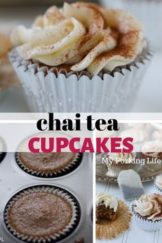 Delicious and moist chai tea cupcakes are full of delicious chai flavor with the right amount of spices. Topped with a buttercream icing. Dessert For Two, Desserts For A Crowd, Easy Desserts, Quick Dessert, Chai Cupcake Recipe, Cupcake Recipes, Dessert Recipes, Jello Recipes, Baking Recipes