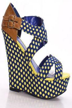 Designer Clothes, Shoes & Bags for Women Platform Wedges Shoes, Strappy Shoes, Strappy Wedges, Wedge Shoes, Heels, Wedge Sneakers, Sneaker Wedges, Electric Blue Shoes, Shoes