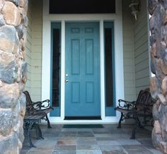 Choosing exterior paint colors articale AND I love this teal-front-door!