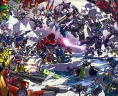 TFcon 2009 poster - colors by *markerguru on deviantART - Transformers