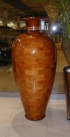 1.8m classic Grecian segmented wooden pot. Contact me for more info!