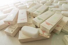 ahhaproject uses organic milk in stitch milk soap popsicle - designboom | architecture